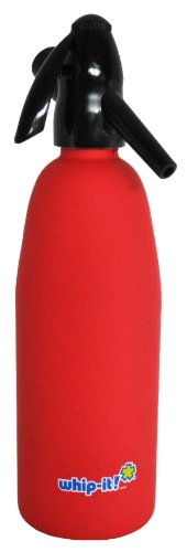 Whip-It 1-Liter Soda Siphon, Rubber Coated, Red by Whip-it!