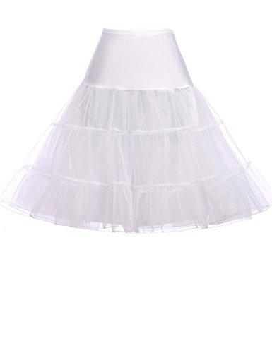 - GRACE KARIN Women's 50s Petticoat Vintage Crinoline Tutu Underskirts White
