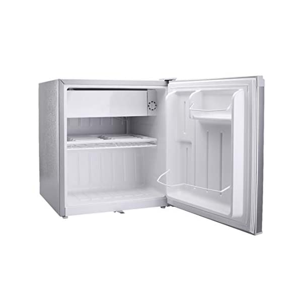 Croma 50 L Direct Cool Single Door Refrigerator (CRAR0218, Silver) 2021 August PCM finish outer body Separate Chiller Compartment Mechanical Temperature Control Thermostat