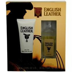 ENGLISH LEATHER by Dana Gift Set -- 1 oz Cologne Spray + 2 oz Body Lotion for Men