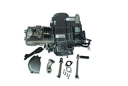 Amazon com: 125cc Semi Auto Engine Motor 3 Speed Reverse