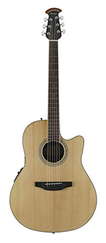 - Ovation 6 String Acoustic-Electric Guitar, Right Handed, Natural (CS24-4)