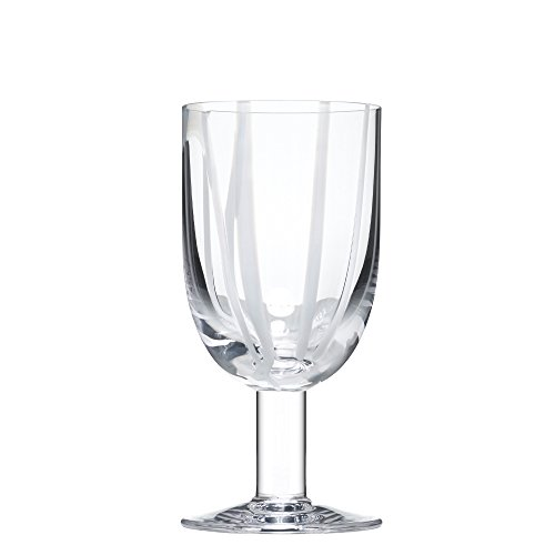 Kosta Boda 7091618 Contrast Wine Glass, 10 oz, White