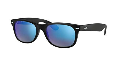 Ray-Ban RB2132 (622/17) Rubber Black/Gray Mirror Blue 52mm Sunglasses Bundle with original case, cloth, booklet and accessories (6 ()