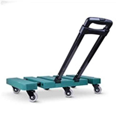 (GAIXIA-Shopping Trolley Trolley Household Folding Portable Mute Trolley Car Shopping Cart Garden Trolley Rubber Two-Wheeled Household Trailer Retractable Load 200KG (Color : B))