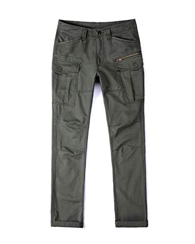 Uomo Stile Casual Armee Campo Da Lanceyy Cargo Tasche Pantaloni Lunghi Con grün Lavoro Semplice Molte wqt778OH