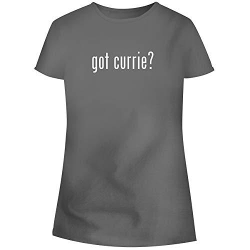 - One Legging it Around got Currie? - Women's Soft Junior Cut Adult Tee T-Shirt, Grey, X-Large