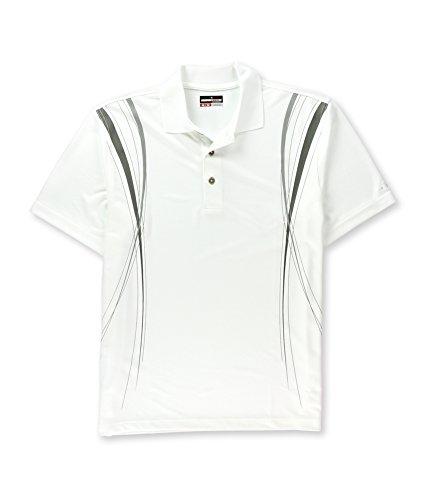 Grand Slam Mens Solid Rugby Polo Shirt brightwhite L (Grand Slam Polo Shirt)