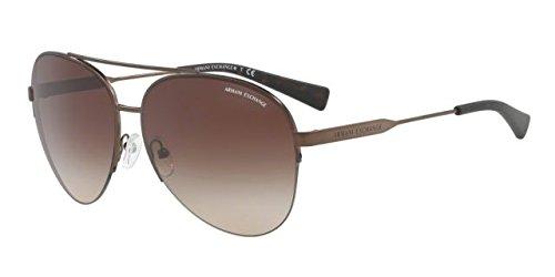 Armani Exchange Men's Metal Man Aviator Sunglasses, Matte Bronze, 60 - Ar Armani Emporio