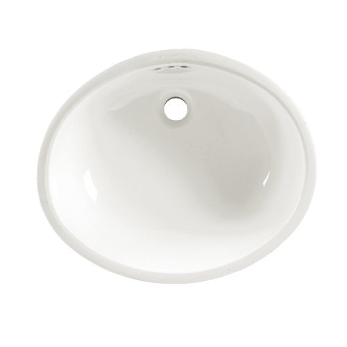 American Standard 0497.300.020 Ovalyn 21-1/4 by 17-3/8-Inch Under Counter Lavatory Sink, White