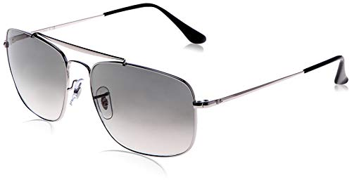 Ray-Ban RB3560 The Colonel Square Sunglasses, Silver/Grey Gradient, 61 mm