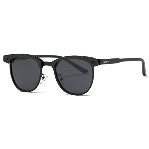 Kimorn Polarized Sunglasses Semi-Rimless Metal Frame Classic Sun Glasses K0558 - Sunglasses Cool Are