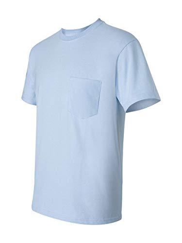 Tee Heir (Gildan Mens 6.1 oz. Ultra Cotton Pocket T-Shirt G230 -LIGHT BLUE XL)