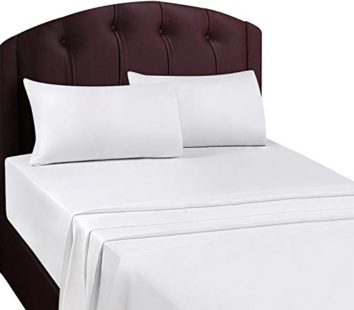Utopia Bedding Twin Flat Sheet (White)]()