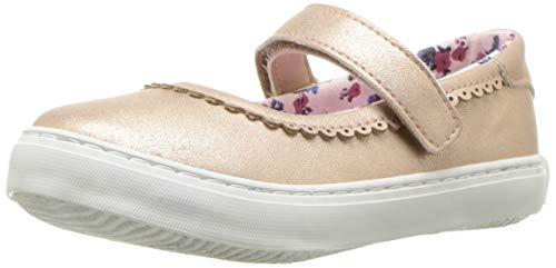 Nine West Girls' Adaya MJ Mary Jane Flat, Pink Sand Shimmer, M115 M US Toddler