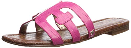 Sam Edelman Women's Bay Slide Sandal, Pink Peony Leather, 8.5 M US