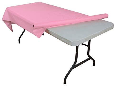 Pink plastic table roll -