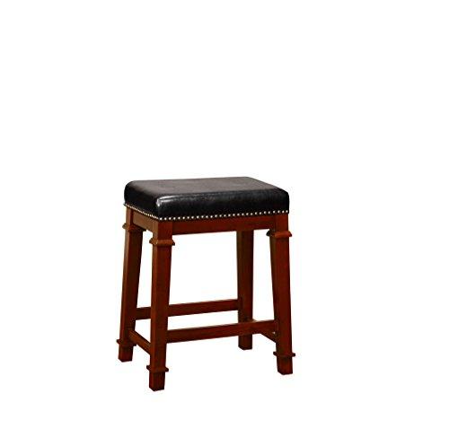 Linon 558121DKCHY01U Kennedy Backless PU Counter Stool, Brown