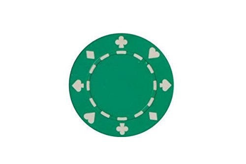- CHH 2602W-GRN 25 Piece Suited Clay Composite Poker Playing Chips, Green and White