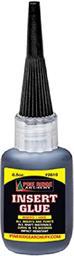 Pine Ridge Insert Glue, 0.5 oz, Black (Best Carbon Arrow Insert Glue)
