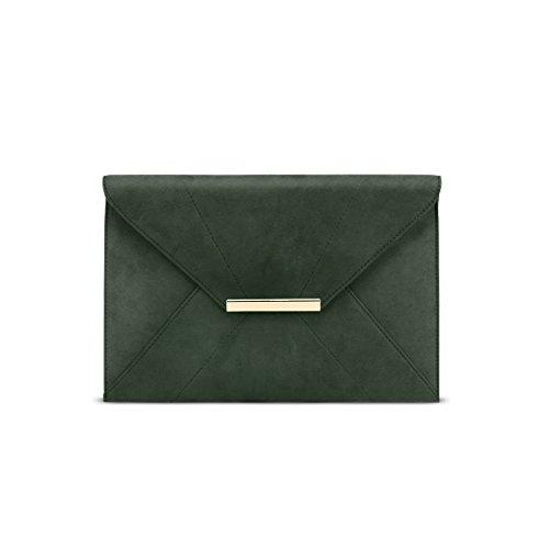 Evening Clutch Purses for Women,GESSY Female Party Clutch for Ladies Elegant Design Handbags with A Removable Chain Strap Envelope Shape Handbag Evening Bags with Pockets Olive by GESSY