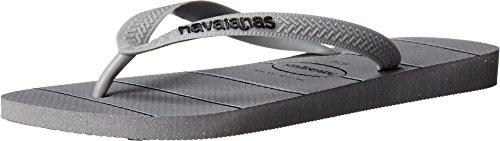Havaianas Heren Topstrepen Logo Sandaal Grijs / Zwart