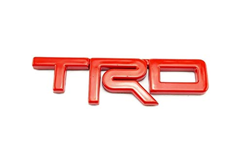 (TRD Badge Racing Sticker Red Abs Plastic 3D Decal Emblem 12.5X3.5cm)