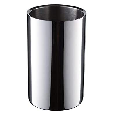 CHILDHOOD Wine Chiller Bucket Dual Wall Insulated Stainless Steel Wine/Champagne Cooler Bucket, Keeps Wine Cool