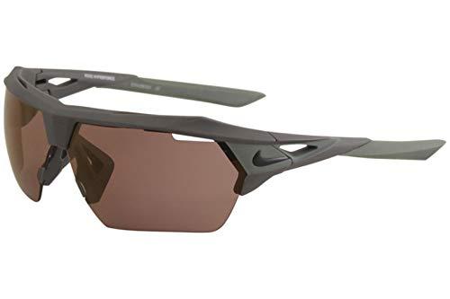 Nike EV1068-012 Hyper force E Frame Sunglasses, Matte Dark Grey/Clay Green