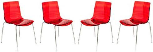 LeisureMod Astor Modern Dining Chair Set of 4