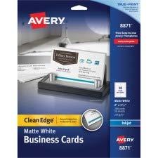 Avery Inkjet Matte Business Cards, 2 x 3 1/2, White, 10/Sheet, 200/Pack