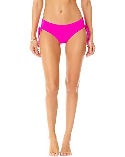 Anne Cole Women's Alex Solid Side Tie Adjustable Bikini Swim Bottom, New Pink, - Pink Bottoms