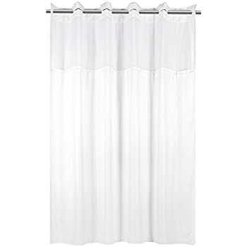 YQN Shower CurtainNo Need Hooks With Magnet 708 X 74 Inch Polyester Thickening Bath