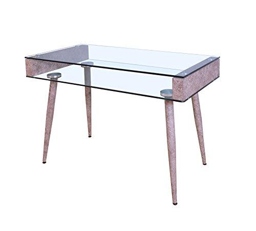 Acme Furniture 92364 Boyd Office Desk, Clear Glass