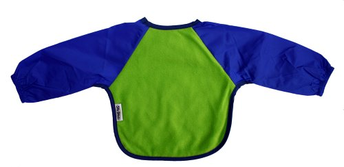Silly Billyz Lime/Royal Long Sleeved Bib size large (Discontinued by Manufacturer)