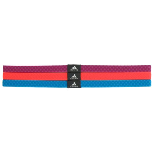 adidas Women's Shimmy Hairband , Vivid Pink/Glow Orange/Samb
