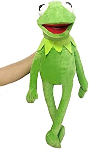 yuailiur 60cm Kermit Frog Puppets Plush Toy Street The Muppet Show Doll Kermit The Frog Hand Puppets Plush Toy