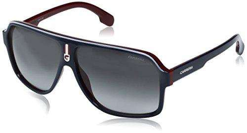Carrera Men's Ca1001s Aviator Sunglasses, Blue Red/Dark Gray Gradiet, 62 - Blue Carrera Sunglasses