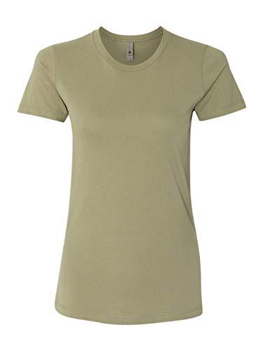 (Next Level Signature Style The Boyfriend Jersey T-Shirt, Light Olive,)