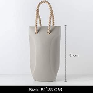 Modern Minimalist Ceramic Vase, Creative Handbag Shaped Vase, Home Decor