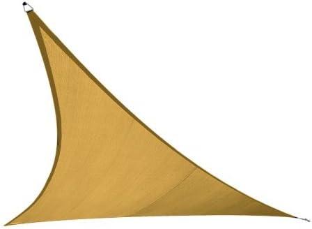 San Diego Sail Shades 14 x14 x14 Triangle Sandy Beach – Heavy Duty Commercial Grade 205gsm Shade Sail