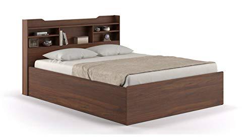 Urban Ladder Sandon Queen Size Engineered Wood Bed with Storage  Walnut Finish