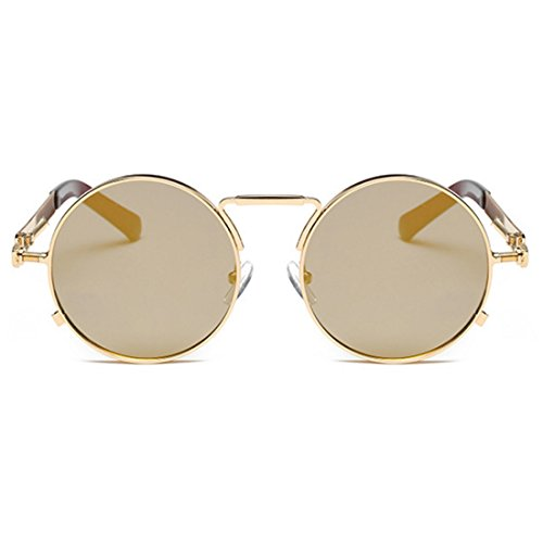 para redondas de Gafas Tuhao Jin hombres y Retro Vintage mujeres Inlefen Gafas Jin Gafas sol Gafas Bx8FnqR