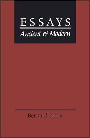 com essays ancient and modern bernard essays ancient and modern