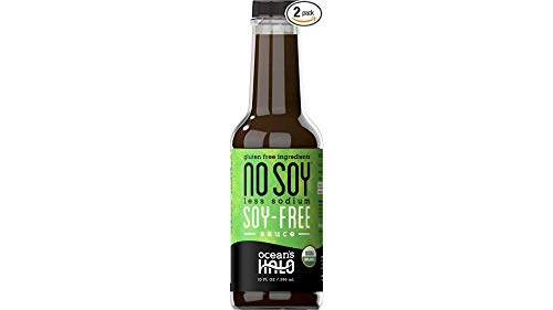 Ocean's Halo Organic No Soy Less Sodium Soy-free Sauce, 2 Pack, 10 oz. per bottle ()