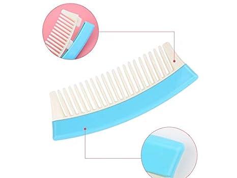 Cepillo de pelo de mujer Peine curvo de dientes anchos Peine antiestático de peluquería Peine (azul) Cepillo desenredante: Amazon.es: Belleza