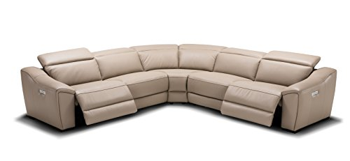 J and M Furniture 187751-TN Nova Tan Power Reclining Motion Leather Sectional