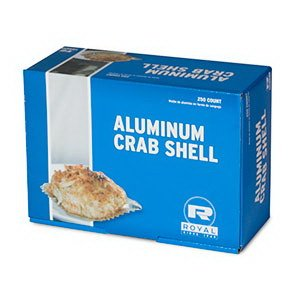 Royal Paper Products Aluminum Crab Shells, Bulk Quantity | 1000 Per Case