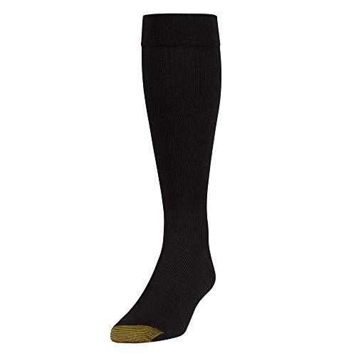 Toe Support Gold Socks - Gold Toe Men's Firm Compression Otc 1 Pack Md, Black, Sock Size: 10-13