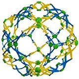 Hoberman Mini Sphere Blue, Yellow and Green Expandable Ball